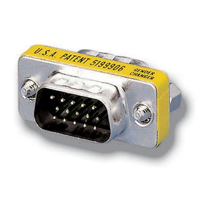 Equip HD15 VGA M/M Gender Changer Kabel adapter - Zilver