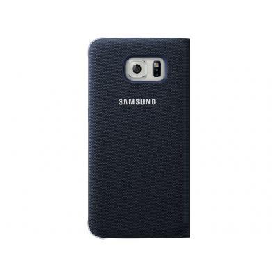 Samsung mobile phone case: Galaxy S6 Flip Wallet Canvas - black - Zwart