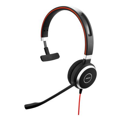Jabra Evolve 40 MS Mono USB-C Headset - Zwart