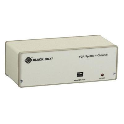 Black Box 4xVGA, 76.2m, LED, 230V, 50/60Hz, 185x84x38mm, White Video splitter - Wit