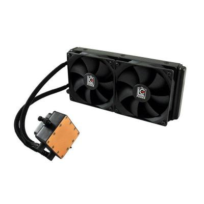 Lc-power water & freon koeling: LC-CC-240-LiCo, Liquid CPU cooler - Zwart