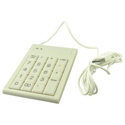 2-power : Basic USB White Numeric keypad - Wit