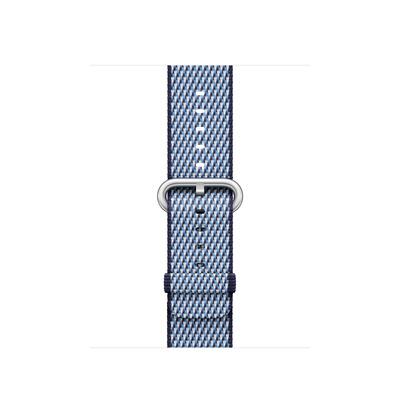 Apple : Bandje van geweven nylon - Middernachtblauw (geruit, 38 mm)