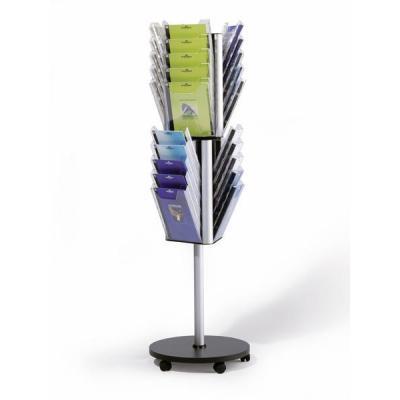 Durable folderstandaard: COMBIBOXX stand A4 L - Zwart, Zilver, Transparant