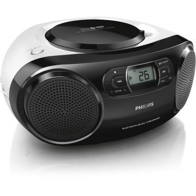 Philips CD-radio: CD-soundmachine AZ330T/12 - Zwart, Wit