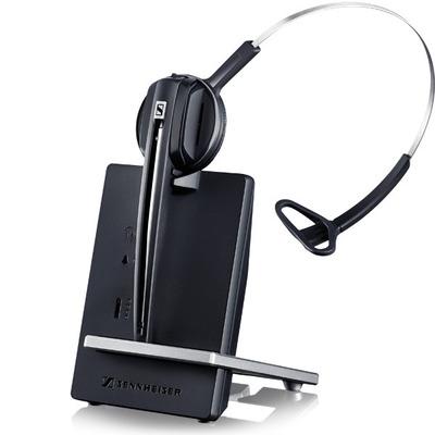 Sennheiser headset: D 10 Phone - Zwart, Zilver