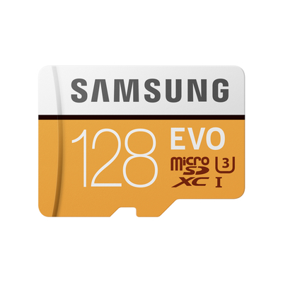 Samsung flashgeheugen: MB-MP128G - Oranje, Wit