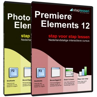 Shareart educatieve software: Staplessen, Adobe Photoshop Elements en Premiere Elements 12  NL