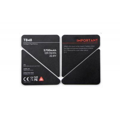 Dji sticker: Inspire 1 - TB48 Battery Insulation Sticker - Zwart, Wit