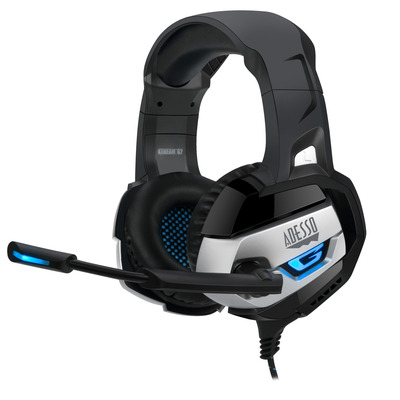 Adesso Stereo USB Gaming Headphone/with Microphone Headset - Zwart