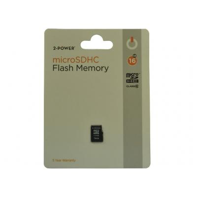 2-power RAM-geheugen: 16GB MicroSDHC Class 10 Memory - replaces 2PFM-16GB-SDMC-C10