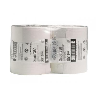 Scott toiletpapier: Toilet paper 2lgs wit/pk 6x380m