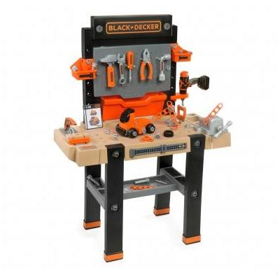Smoby role play toy: Black & Decker Workbench Super Center - Zwart, Grijs
