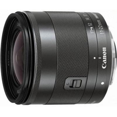 Canon camera lens: EF-M 11-22mm f/4-5.6 IS STM - Zwart