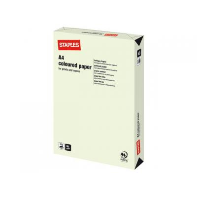 Staples papier: Papier SPLS A4 80g lichtgroen/pak 500v