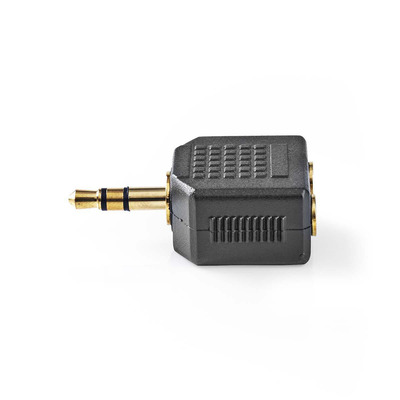 Nedis Stereo Audioadapter, 3,5 mm male - 2x 3,5 mm female Kabel adapter - Antraciet