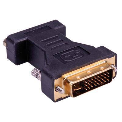 ROLINE DVI-VGA Adapter, DVI M - HD15 F Kabel adapter - Zwart