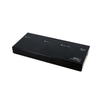 Startech.com video splitter: 2-poort DVI Video Splitter met Audio - Zwart
