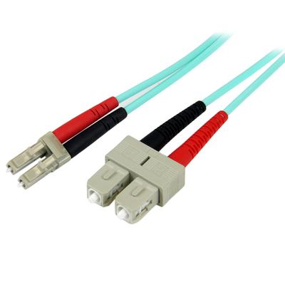 StarTech.com 2m 10Gb Aqua Multimode 50/125 Duplex Halogeenvrije Glasvezel Netwerkkabel LC-SC Fiber optic .....