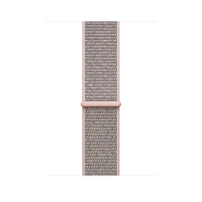 Apple : Geweven sportbandje - Rozenkwarts (42 mm) - Roze goud