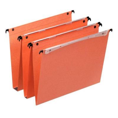Esselte hangmap: Orgarex Dual verticale hangmap, 25 stuks - Oranje