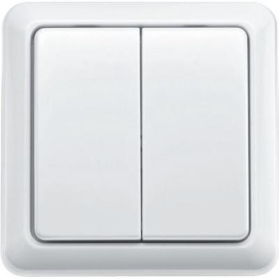 Klikaanklikuit light switch: Draadloze dubbele wandschakelaar, Aantal kanalen 2, 3V (CR2032) - Wit