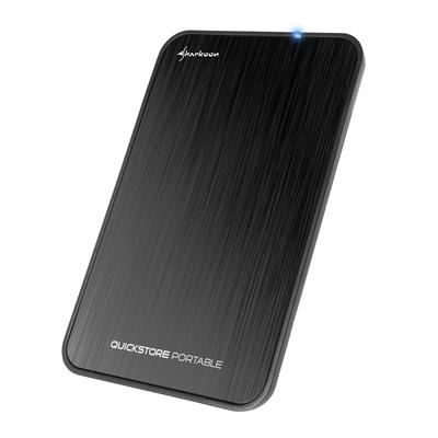 Sharkoon behuizing: QuickStore Portable USB 3.1 - Zwart