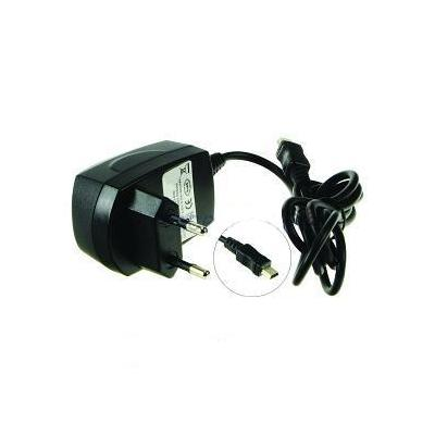 2-power oplader: Mobile Phone AC Adapter, mini-USB, 230V, Black, EU - Zwart
