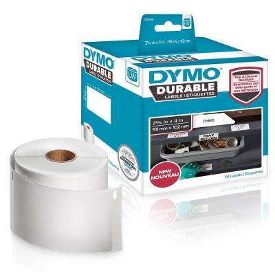 "Dymo etiket: Durable Shipping, 2 5⁄16"" x 4"", White - Wit"