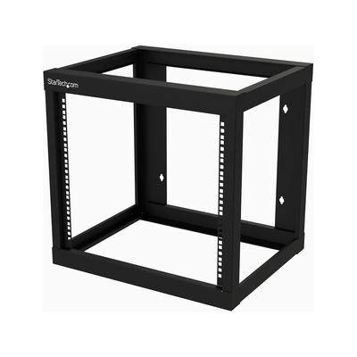 """StarTech.com 9U wandmontage open frame 18"""" diep Rack - Zwart"""