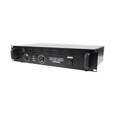 König audio versterker: 2 x 300W, 95dB(A), 2U, zwart