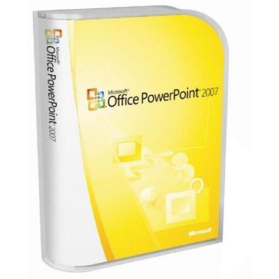 Microsoft software: PowerPoint 2007. Academical Lisence (SW)