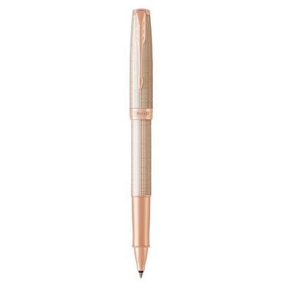 Parker pen: Sonnet Ciselé Silver Roller ball pen, Black ink - Goud