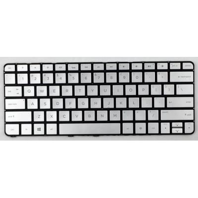 HP Keyboard (International), Silver notebook reserve-onderdeel - Zilver