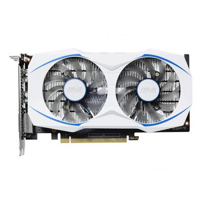 ASUS DUAL-GTX1050TI-4G Videokaart - Zwart, Blauw, Wit