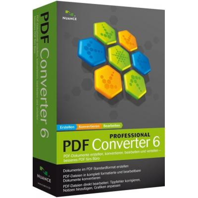 Nuance PDF Converter Professional 6, 30001+u, EN desktop publishing