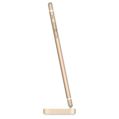Apple mobile device dock station: iPhone Lightning Dock - Goud