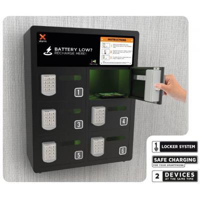 Xtorm : Business Charging Locker 6 - Zwart
