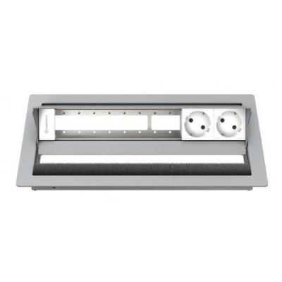 Kindermann 6-fold, 2 x mains Inbouweenheid - Zilver, Wit