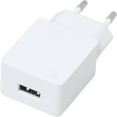 ESTUFF Home Charger 1 USB 2,4A, 12W Oplader - Wit