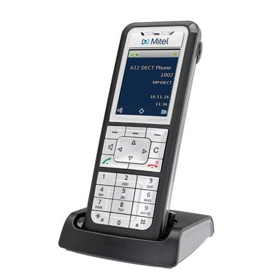 Mitel 612 Dect telefoon - Zwart, Zilver