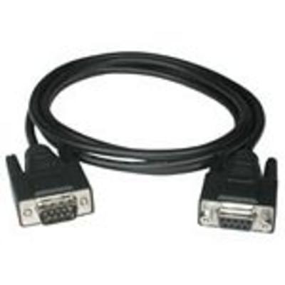 C2g seriele kabel: 10m DB9 M/F Cable - Zwart