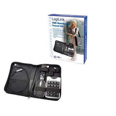 Logilink laptop accessoire: Notebook USB accessories Set with Bag 5-piece - Zwart