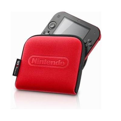 Nintendo portable game console case: 2DS carrying case, Black/Red - Zwart, Rood