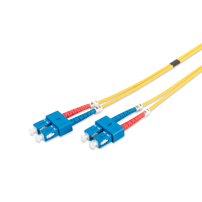 Digitus SC/SC, 10 m Fiber optic kabel - Geel