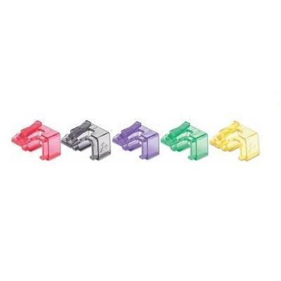 Intellinet kabelklem: Repair clip for RJ45 modular plug; transparent mixed colors; 50 pack - Zwart, Groen, Rood, .....