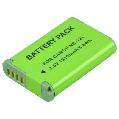 2-power batterij: Digital Camera, Lithium ion, 3.6 V, 1910 mAh, 34 g, Rectangular - Groen