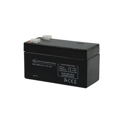 Hq UPS batterij: Lead-Acid 12V 1.3Ah - Zwart