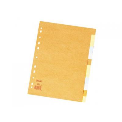 Staples schutkaart: Tabblad SPLS A4 11r 2x6-kleurkarton/se12