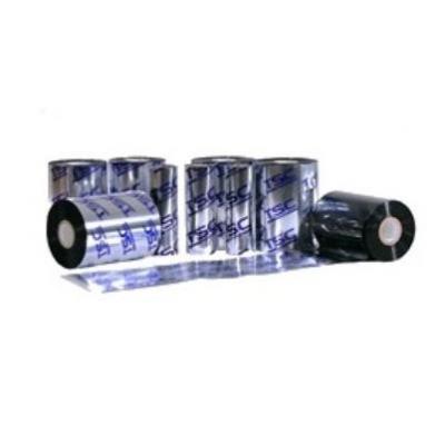 TSC STANDARD WAX Ribbon, W 110mm, L 300m, Black, 12 Rolls/Box Thermische lint - Zwart